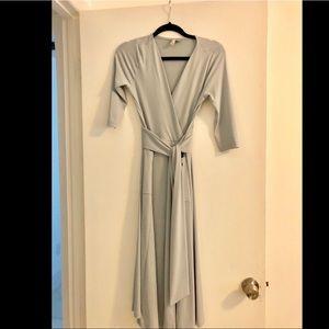 ca0c159096a7 ASOS Dresses   Petite Crepe Wrap Midi Dress   Poshmark